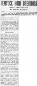 Hemyock Football Team 1949 - Newspaper Report