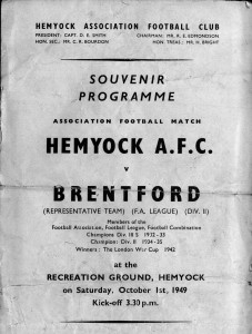 Hemyock Football Team 1949 - Programme