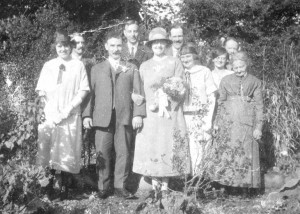 George and Effie White - Wedding Photo taken at Battens Farm, 1924