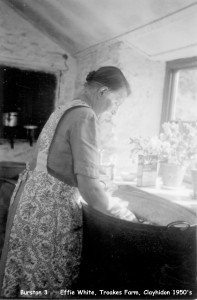 Effie White at the wash tub