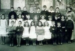 Picture of Class 1, Uffculme School, 1912