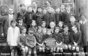 Picture of the Upottery Primary School Class of 1928