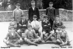 Picture of the 1933 Upottery School Football Team