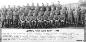 Picture showing men of Upottery Home Guard 1939-1945