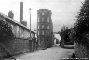 Picture of the Uffculme Jam and Cider Factory in 1974