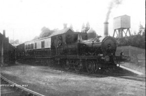 Picture of a steam train at Uffculme
