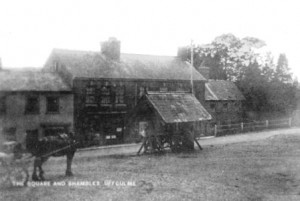 A picture of the Square and Shambles at Uffculme in Devon