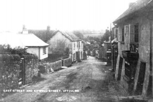 Picture looking down East Street, towards Kitwell Street in Uffculme, Devon