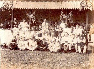 Undated picture of the Uffculme Cricket Club, Devon.