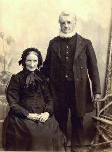 Picture of Thomas Hancock and wife Hannah nee Buttle, of Hemycok and Dunkeswell, Devon