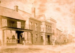 Picture of The Square at Uffculme (North side) undated.