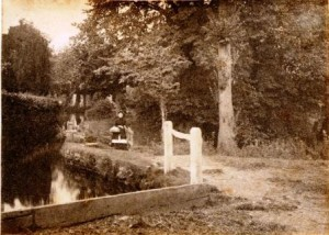Picture of Mrs Stevens pictured at Mill Stream, Uffculme, Devon.  Undated.