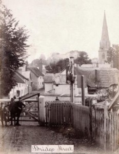 Picture of railway crossing at Bridge Street, Uffculme, Devon.