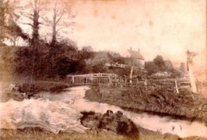 Picture of Five Fords, near Uffculme, Devon.  Undated.