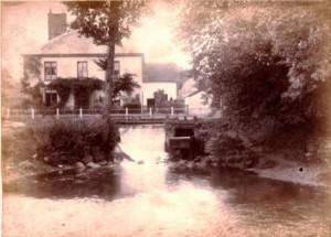 Picture of Mill Stream House, Uffculme, Devon.  Undated.