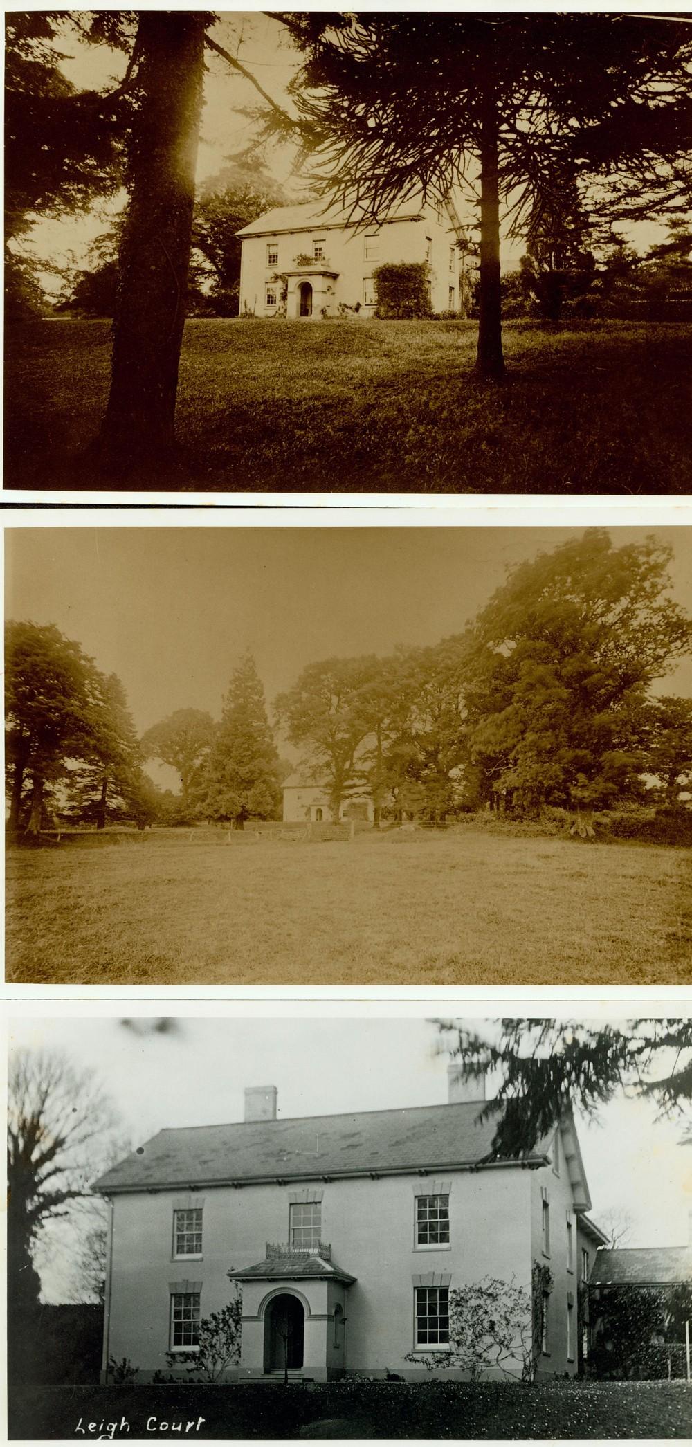 Leigh Court, Ashill, prior to 1920.-1