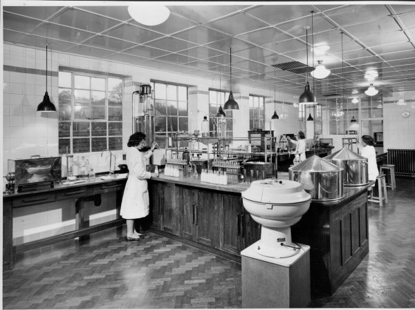 Unigate, Hemyock, 1962. Laboratory to test for  hygeine & product.-1