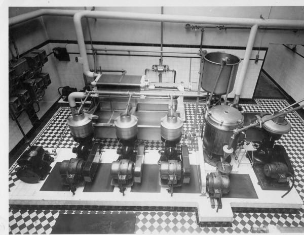 Unigate, Hemyock;the separator room.-1