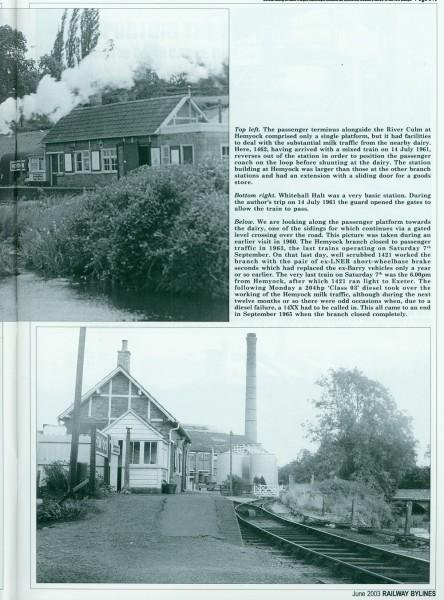 Culm Valley . Railway Bylines. (7)-1