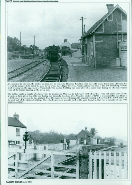 Culm Valley. Railway Bylines. (5)-1