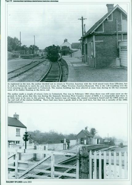 Culm Valley. Railway Bylines. (5)-1