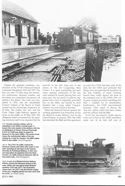 Culm Valley. Steam Days, (2)-1