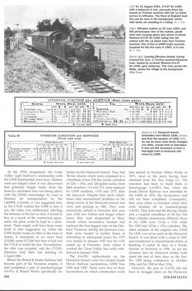 Culm Valley. Steam Days. (5)-1