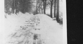 More snow scenes @ Hemyock iincluding  the old  pedestrian footbridge, 1962..-1