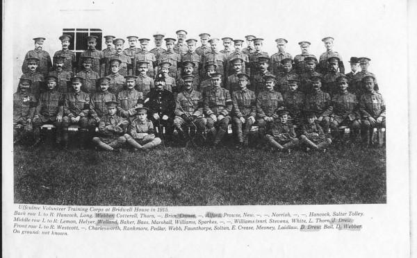 Uffculme Volunteer Training Corps, Bridwell 1915